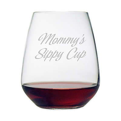 "Susquehanna Glass Etched ""Mommy's Sippy Cup"" Stemless Wine Glass"