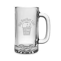 "Susquehanna Glass Etched ""My Bucket List"" Beer Mug"