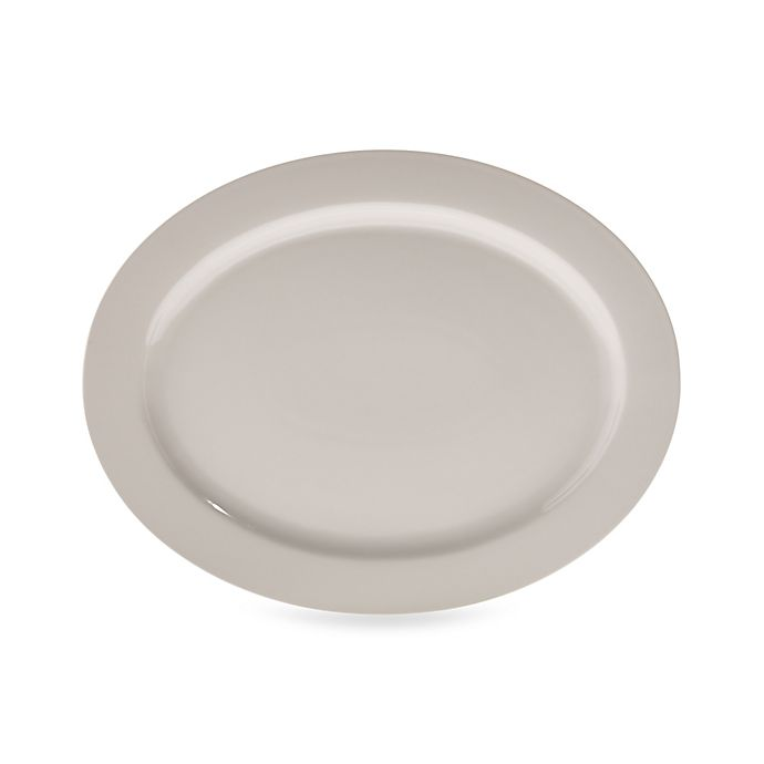 Alternate image 1 for Real Simple® Oval Rim Serving Platter in Ivory