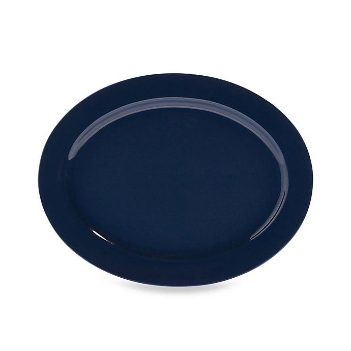 Alternate image 1 for Real Simple® Oval Rim Serving Platter in Marine Blue