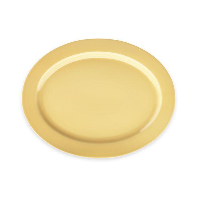 Alternate image 1 for Real Simple® Oval Rim Serving Platter in Sunflower