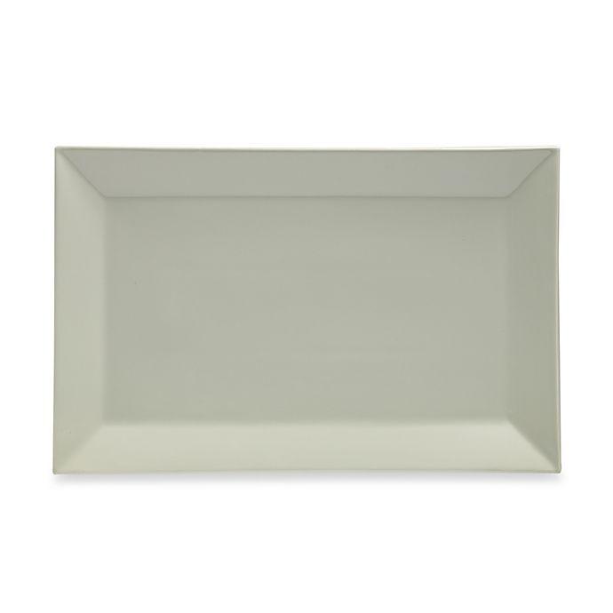 Alternate image 1 for Real Simple® Rectangular Rim Serving Platter in Sage