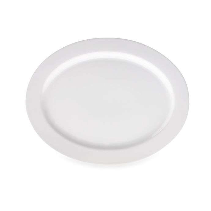 Alternate image 1 for Real Simple® Oval Rim Serving Platter in White