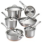Anolon® Nouvelle Copper Stainless Steel 11-Piece Cookware Set