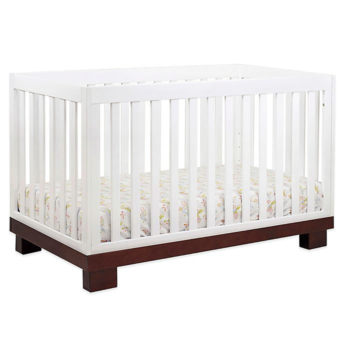 Alternate image 1 for Babyletto Modo 3-in-1 Convertible Crib in Espresso and White