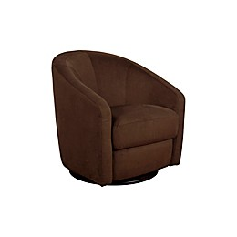 Babyletto Madison Swivel Glider In Mocha Microsuede