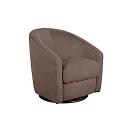 Babyletto Madison Swivel Glider In Slate Microsuede