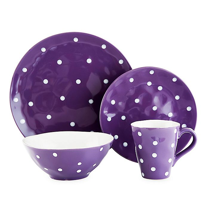 Alternate image 1 for Maxwell & Williams™ Sprinkle Dinnerware Collection in Purple