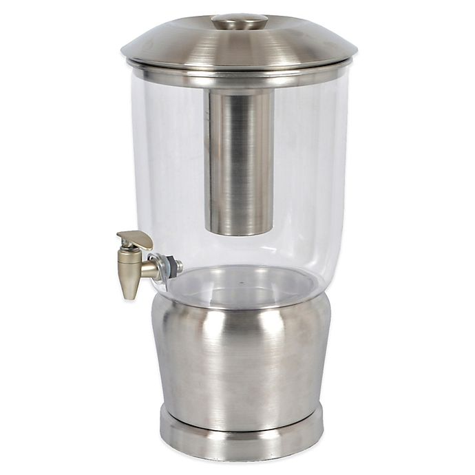 Alternate image 1 for Double-Walled Stainless Steel 3-Gallon Beverage Dispenser