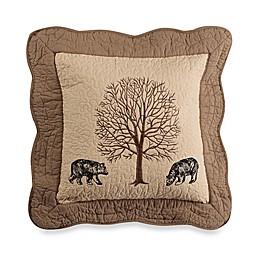 Donna Sharp Bear Creek Bear Square Throw Pillow