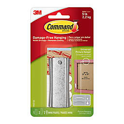 3M Command™ Universal Picture Hanger with Stabilizer Strips White