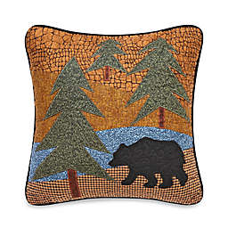 Donna Sharp Midnight Bear Square Throw Pillow