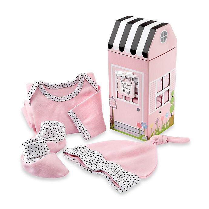 Alternate image 1 for Baby Aspen 3-Piece Welcome Home Baby! Layette Set in Pink