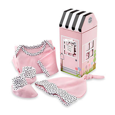 Baby Aspen 3-Piece Welcome Home Baby! Layette Set in Pink