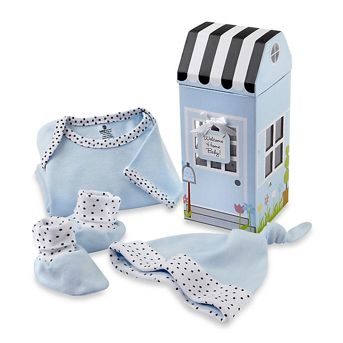 Alternate image 1 for Baby Aspen 3-Piece Welcome Home Baby Layette Set in Blue