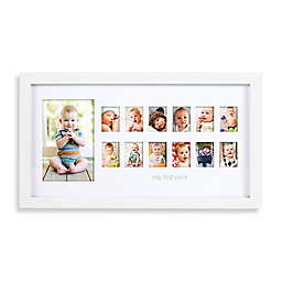 "Pearhead® 13-Photo ""My First Year""  Photo Moments Frame in White"