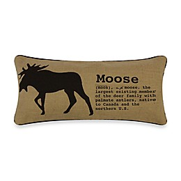 Lamington Moose Boudoir Toss Pillow