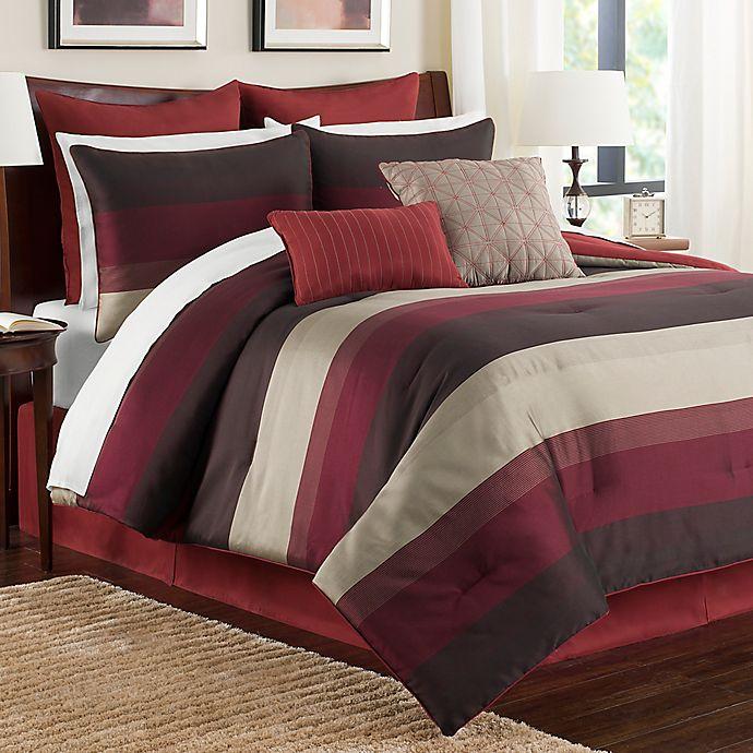 Alternate image 1 for Hudson California King Comforter Set in Red