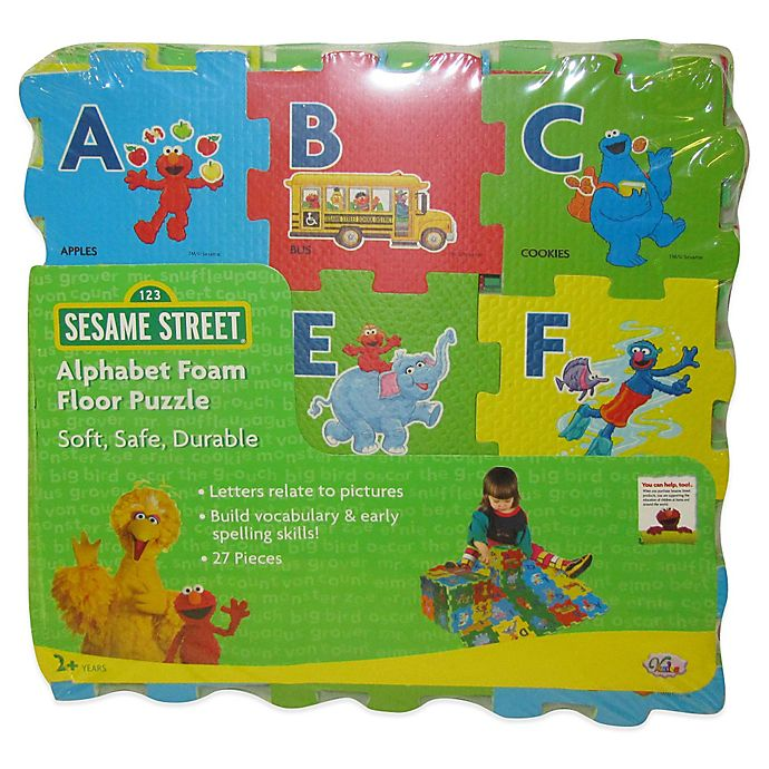 Alternate image 1 for Verdes Sesame Street® 27-Piece Alphabet Foam Floor Puzzle