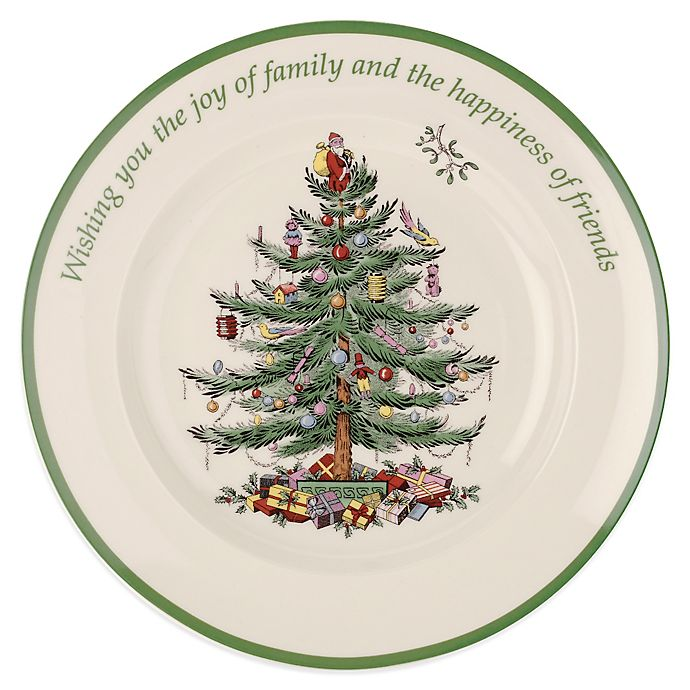 Spode Christmas Tree China Sale: Spode® Christmas Tree Sentiment Round Plate