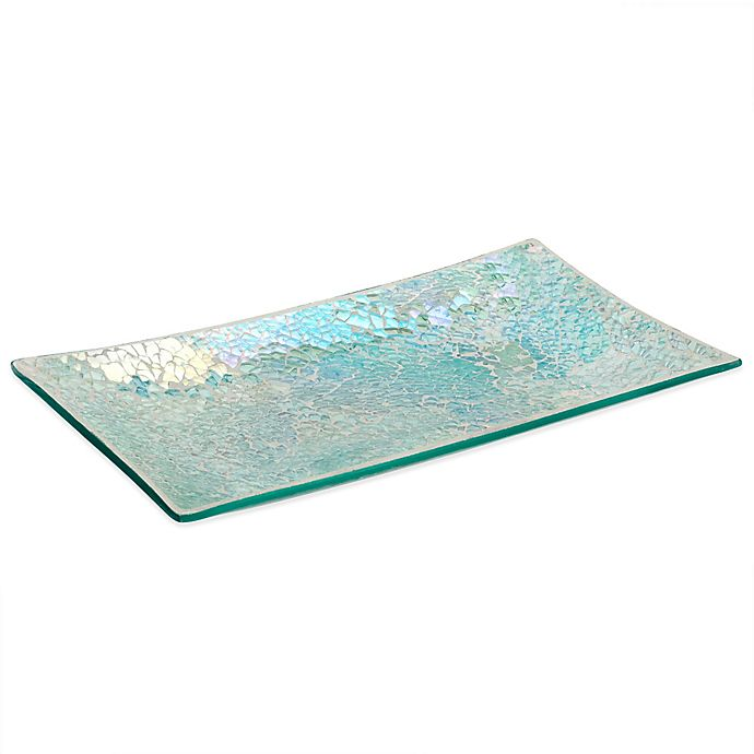 Alternate image 1 for India Ink Aurora Cracked Glass Guest Towel Tray in Pastel