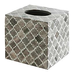 Kassatex Marrakesh Real Bone Tissue Box Cover in Grey