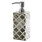 Kassatex Marrakesh Real Bone Lotion Dispenser in Grey
