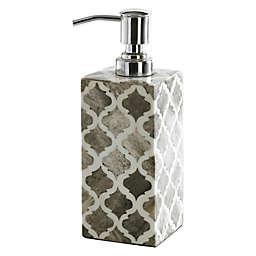 Kassatex Marrakesh Real Bone Lotion Dispenser in Grey
