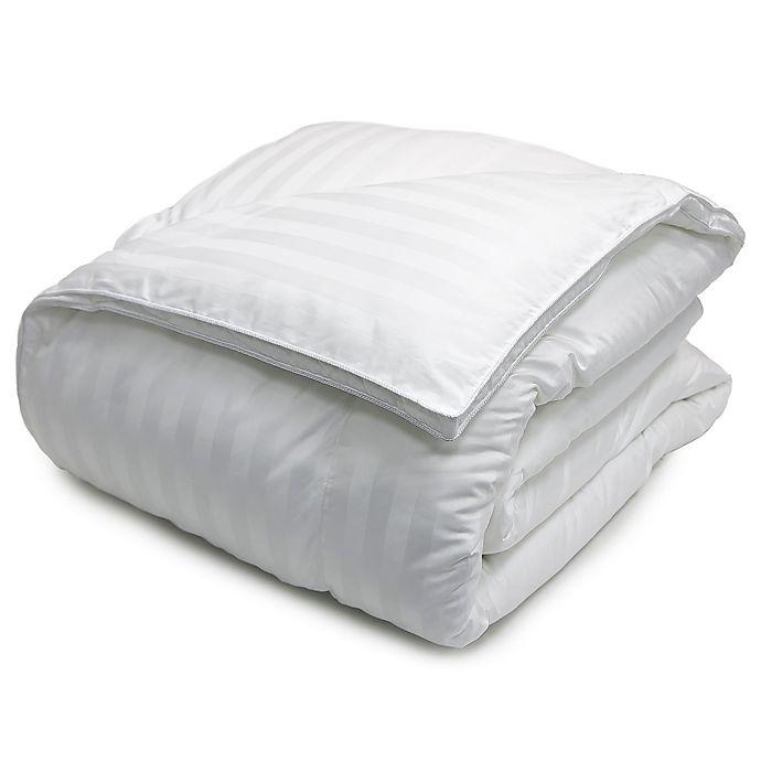 Alternate image 1 for Damask Stripe 500 Thread Count Down Alternative Comforter