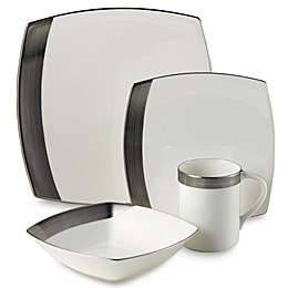 Mikasa® Ridge Square Platinum Dinnerware Collection