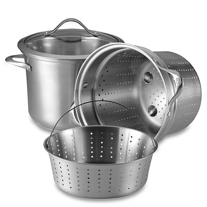 Alternate image 1 for Calphalon® Contemporary Stainless Steel 8-Quart Multi-Pot