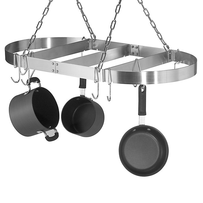 Alternate image 1 for Calphalon® Oval Ceiling Stainless Steel Pot Rack