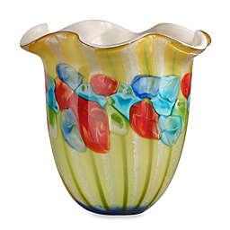 Dale Tiffany Argentina 11-3/4-Inch Art Glass Ruffle Vase
