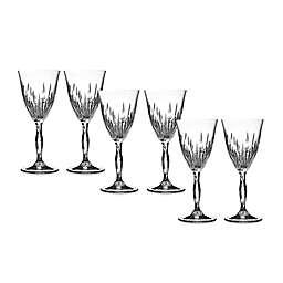 Lorren Home Trends Fire Wine Goblet (Set of 6)