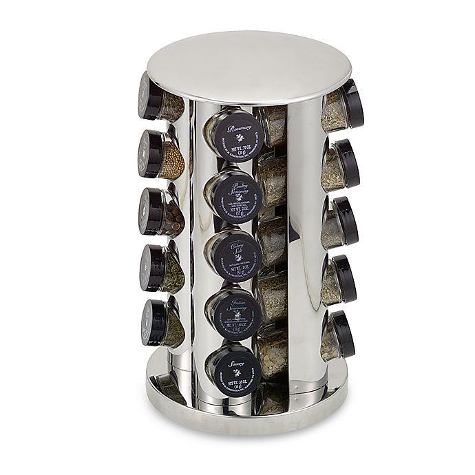 Kamenstein Stainless Steel 20 Jar Filled Revolving E Rack Tower
