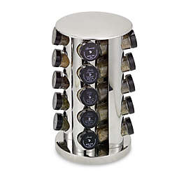 Kamenstein® Stainless Steel 20-Jar Filled Revolving Spice Rack Tower