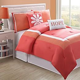 Hotel Juvi Comforter Set in Coral