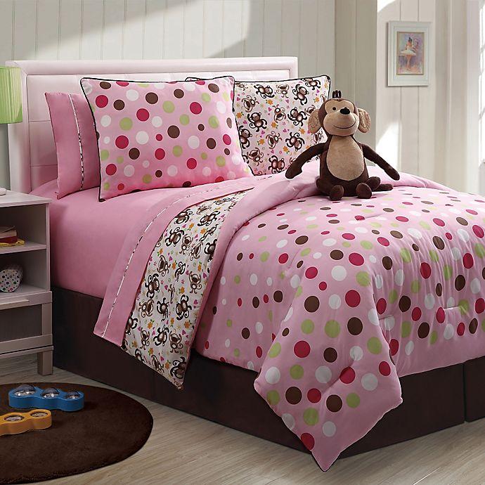 Monkey Bathroom Set Walmart: Monkey Reversible Comforter Set