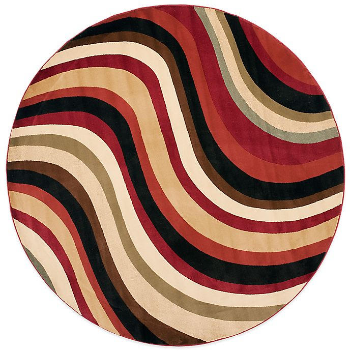 Safavieh Porcello Collection Hamlin Red And Multi 7 Foot Round Rug