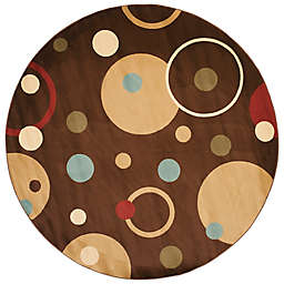 Safavieh Vera Brown/Multi 7-Foot Round Rug