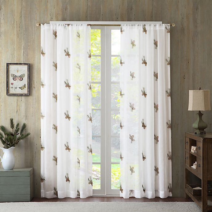 Alternate image 1 for Pinecone 95-Inch Sheer Window Curtain Panel