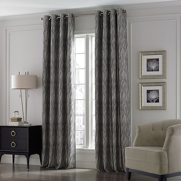 Alternate image 1 for Valeron Lustre Grommet Top 84-Inch Window Curtain Panel in Silver