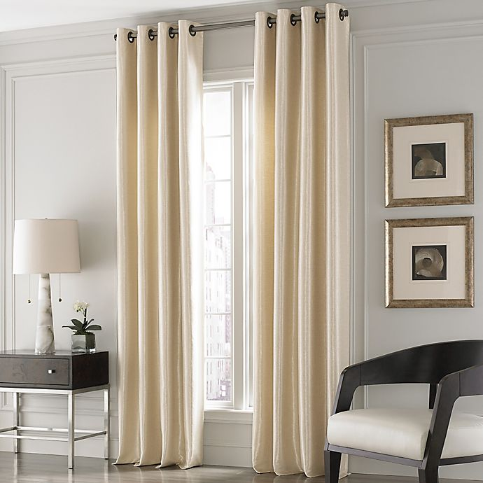 Alternate image 1 for Valeron Lustre Solid 84-Inch Window Curtain Panel in Sand