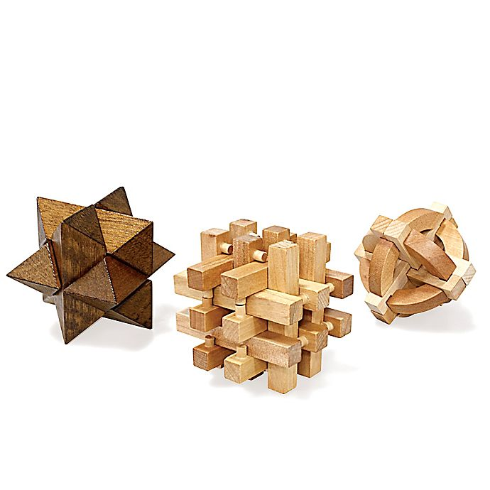 Alternate image 1 for Wooden Puzzles (Set of 3)