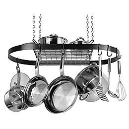 Range Kleen® Oval Hanging Pot Rack in Black