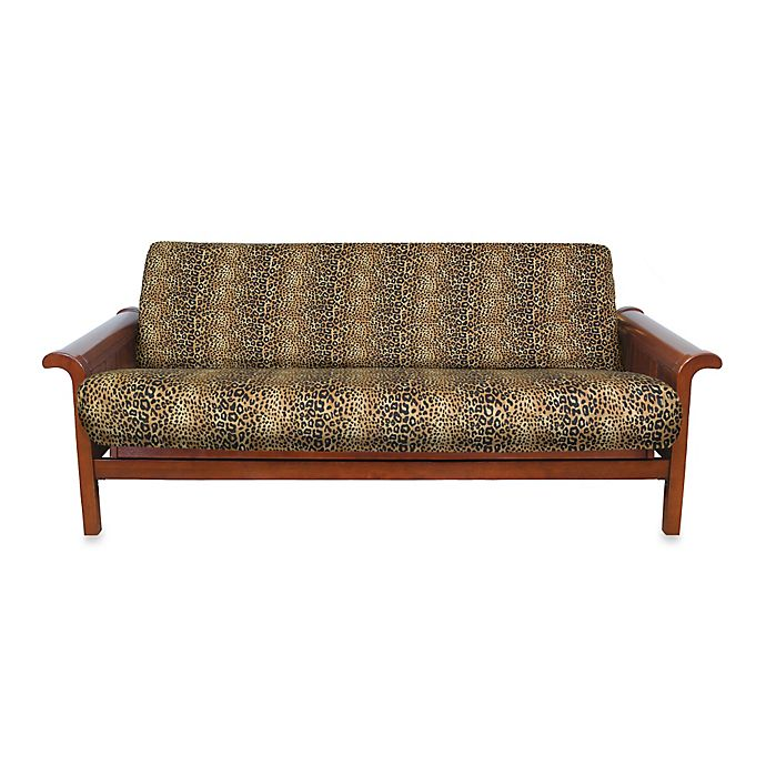 Loft Ny Brushed Twill Futon Cover In Cheetah Print