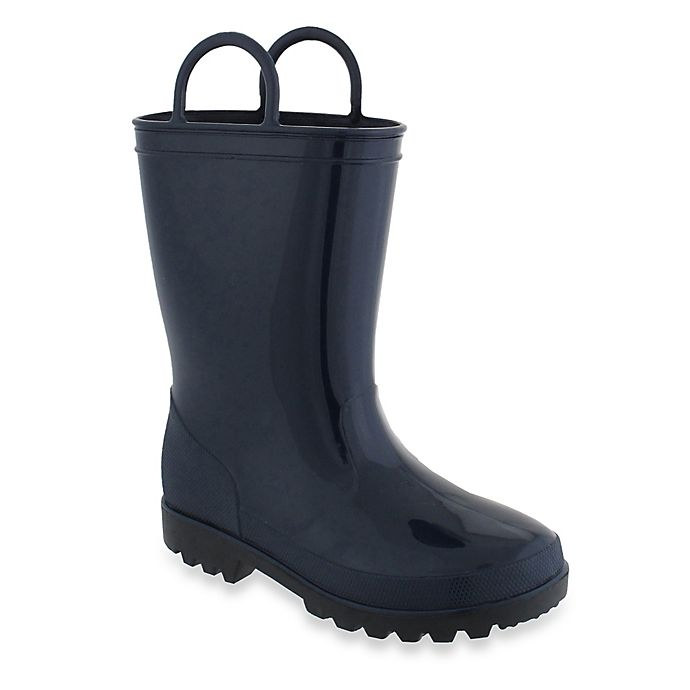 Alternate image 1 for Capelli New York Size 4-5 Casual Rain Boot with Handles in Navy