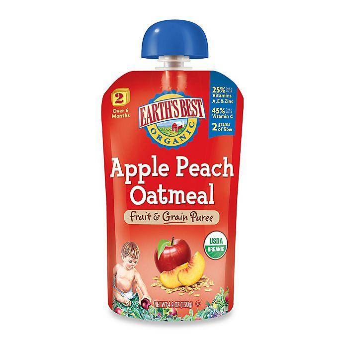 Alternate image 1 for Earth's Best® Organic 4.2 oz. Apple Peach Oatmeal Fruit & Grain Puree