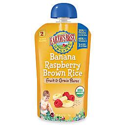 Earth's Best® Organic 4.2 oz. Banana Raspberry Brown Rice Fruit & Grain Puree