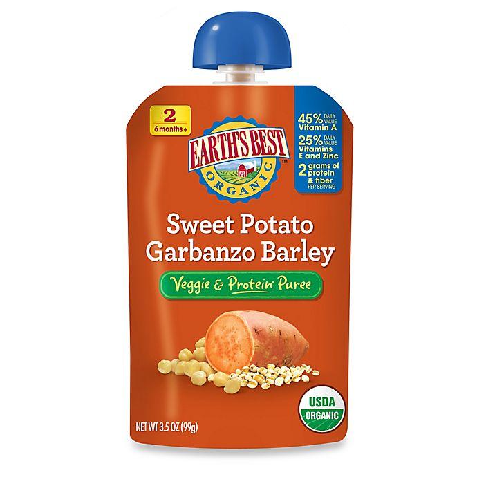 Alternate image 1 for Earth's Best® Organic 3.5 oz. Sweet Potato Garbanzo Barley Veggie & Protein Puree